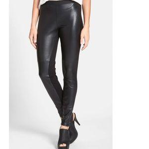 new EILEEN FISHER leather front leggings black